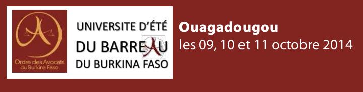Université d'été du Barreau du Burkina Faso : Pour le renforcement des capacités des avocats