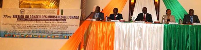 Compte-rendu de la 39ème réunion du Conseil des Ministres de l'OHADA, Yamoussoukro (République de Côte d'Ivoire), 10, 11 et 12 juin 2015