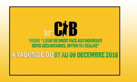 31ème congrès annuel de la CIB à Yaoundé au Cameroun du 7 au 9 décembre 2016