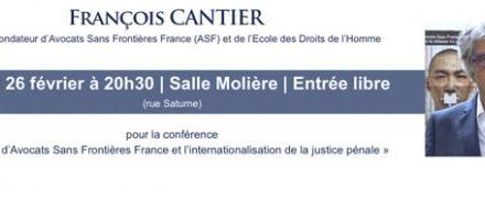 FRANÇOIS CANTIER est l'invité des rendez-vous Citoyens à Launaguet