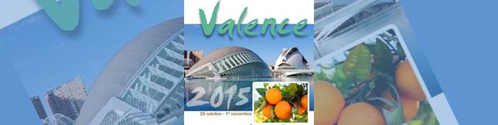 59e Congrès du 28 octobre au 01 novembre 2015 à Valence, Espagne