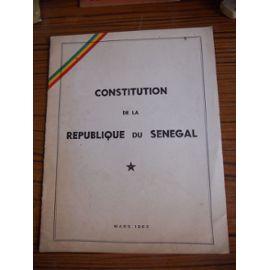SENEGAL : Loi constitutionnelle n° 2016-10 du 05 avril 2016 portant révision de la Constitution