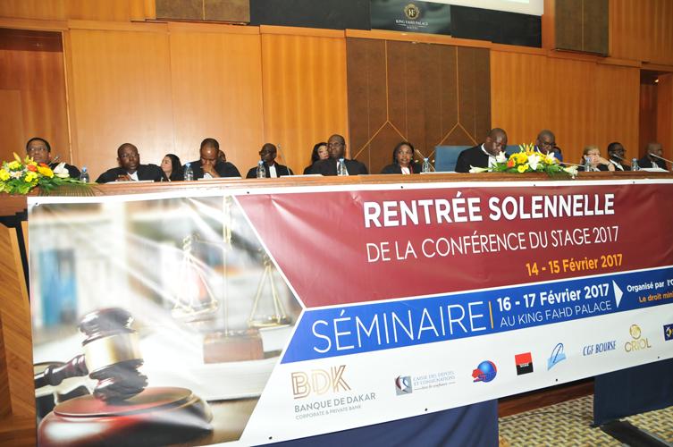 Cérémonie de la Rentrée solennelle du stage du barreau du Sénégal