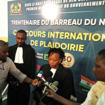 Maître Gracia ADJAGBA-AMOUSSOU, lauréat au Concours régional de plaidoirie du Niger : son texte de plaidoirie