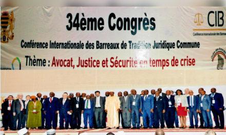 Le Barreau du Sénégal au 34ème Congrès de la CIB « Avocat, Justice et Sécurités en temps de crises »