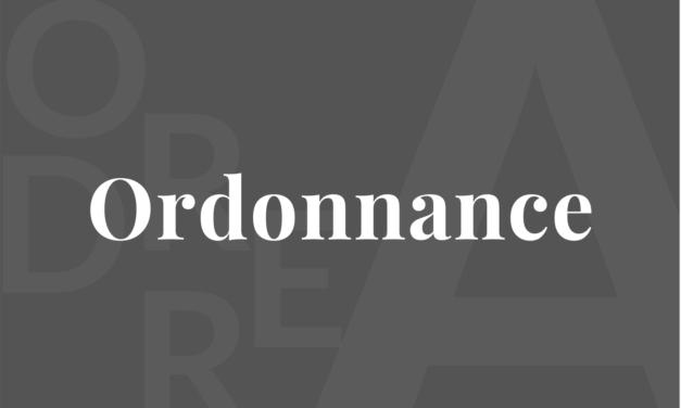 Ordonnance n° 001-2020 du 8 avril 2020 ou la mesure barrière du président