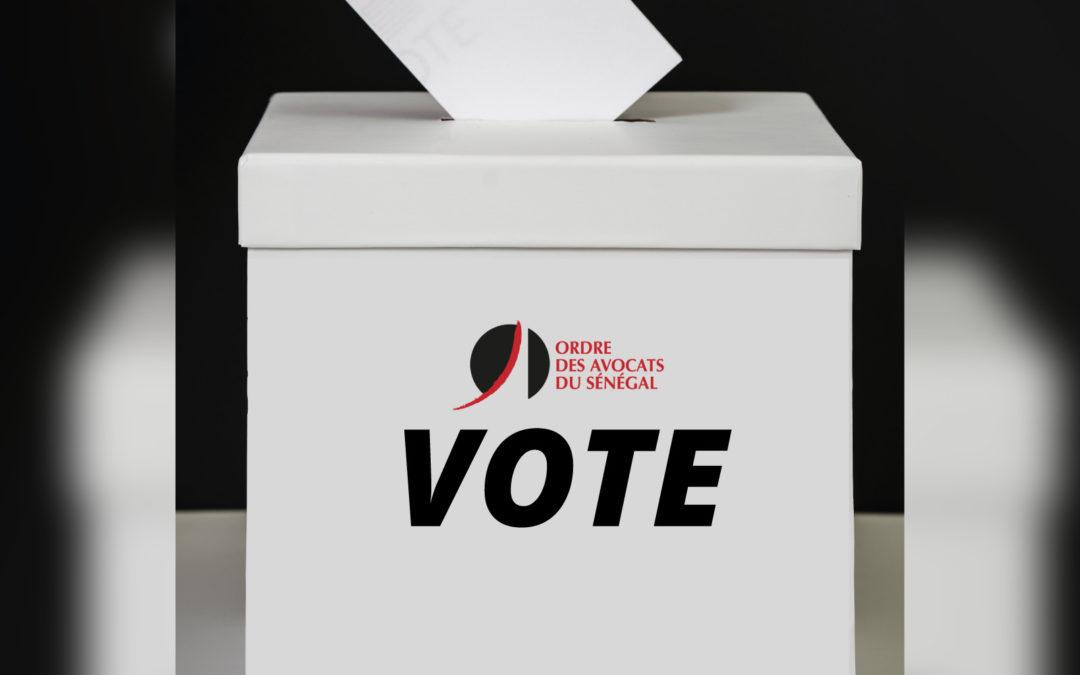 ODAS – Procès verbal de l'élection partielle des membres du Conseil de l'Ordre – 17 juin 2021 – 1er tour